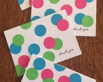 Lots of Neon Dots - Thank You - Set of 4