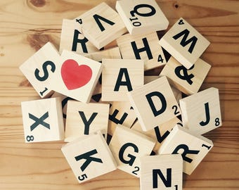 Large scrabble tiles, scrabble wall art, scrabble family wall letters