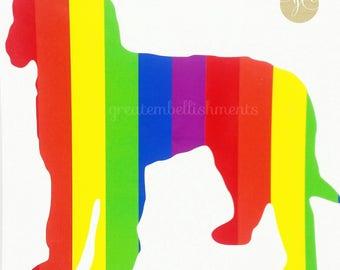 Dog Rainbow Decal, Doodle Rainbow Decal, LGBT Rainbow, LGBT Decal, Labradoodle Decal, Goldendoodle Decal, Rainbow Vinyl, Doodle Decal