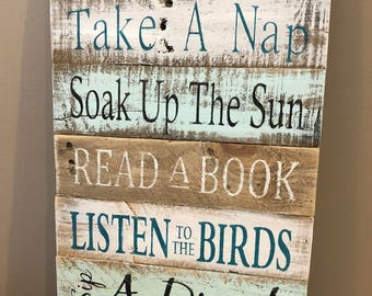 Patio Rules sign, patio decor, home decor, wood signs, pallet signs