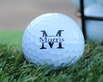 Monogram Gift Golf Ball For Weddings / Birthday / Retirement Gift Set of 3, FAST SHIPPING!!