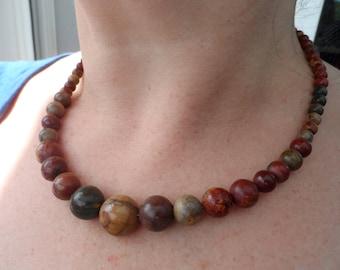 genuine picasso Jasper stone necklace