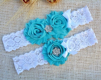 Blue Garter Bridal, Lace Crystal Garter, Bridal Garter Set,Gift, Keepsake Garter,Wedding Garter Blue, Bridal Garter Blue, Rhinestone Garters