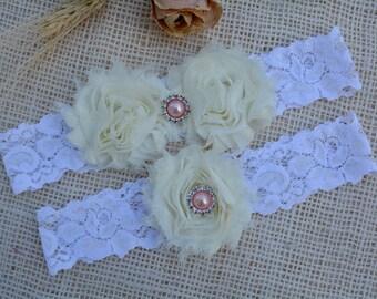 White Ivory Garter, White Garter Set, Bridal Clothing, Garter For Wedding, Gift For Brides, Lace Garter Set, Garter Set, Ivory Keep Garter