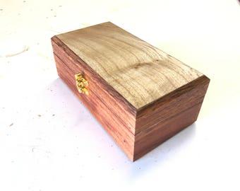 Blackwood And African Tulip Jewellery Box