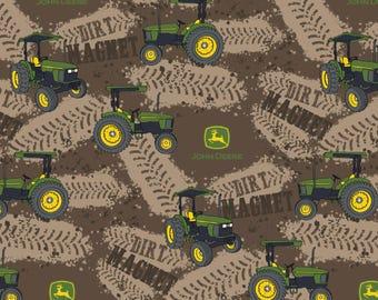 "New John Deere Fabric: John Deere  John Deere Dirt Magnet Tractors 100% cotton Fabric by the yard 36""x43"" (SC457)"