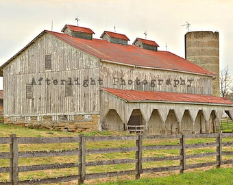 Country Barn Photography, Bank Barn, Farm Photograph, Country Print, Country Wall Decor, Fine Art Photography
