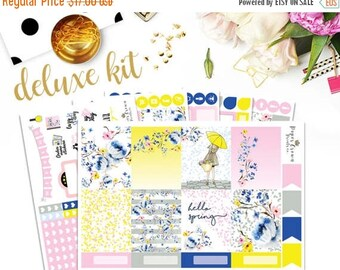 SALE/ HELLO SPRING Deluxe Planner Stickers for use with Erin Condren Life Planner/Weekly Planner Sticker Kit/Sticker Set/Spring Stickers/May