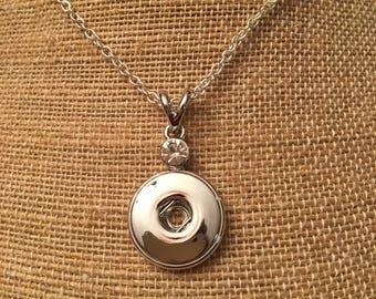Rhinestone Snap Necklace
