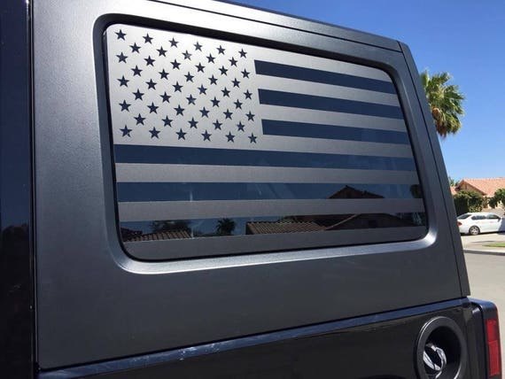 Flag Decals Jeep Jku Jk Wrangler Back Window American Flag