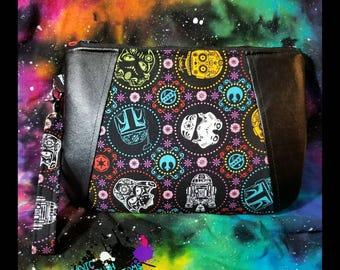 Sugar Skulls Star Wars Inspired clutch / wristlet
