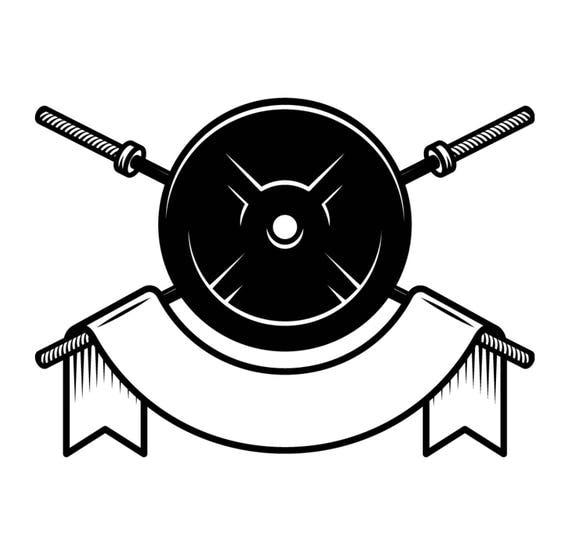 Bodybuilding Logo #6 Banner Weight Barbell Bar ...
