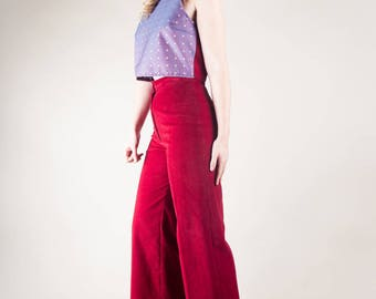 Red Cord 70's  Flares