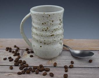 Handmade Ceramic Mug, Coffee Cup, Coffee Mug, Speckled Mug, Wheelthrown, Gift Idea 16 oz