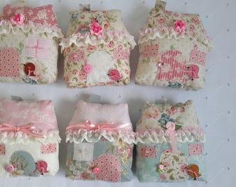 cottage decor floral fabric tones TILDA 13 cm by 12 cm