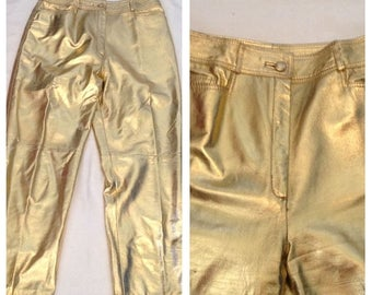 On Sale Awesome Vintage Gold Lined Lillie Rubin Pants