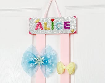 Hair bow holders personalized hair clip holder customized name sign hair bow holders personalized kids name room sign