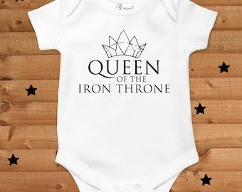 Queen of the iron throne onesie - Baby bodysuit - Game of thrones baby clothes