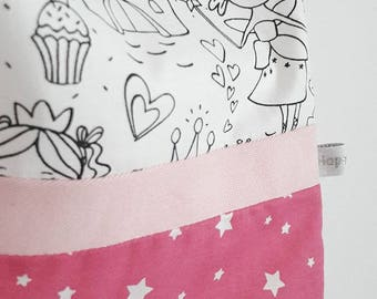 Large towel / of canteen/elasticated coloring - Princess Theme (postage offered)