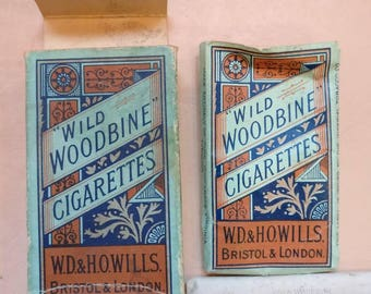 Vintage pack of Woodbines with contents.