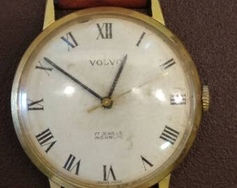 Rare Vintage VOLVO mechanical watch, 17 Jewels, Incabloc, Swiss made.