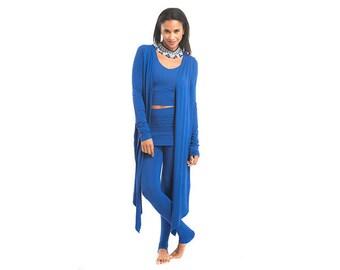 Bamboo Drape Shrug - Cobalt Blue