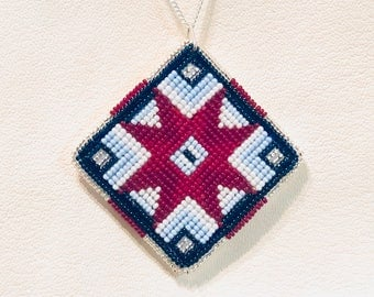 Native American Style beaded pendant