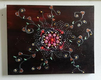 small painting modern scroll work