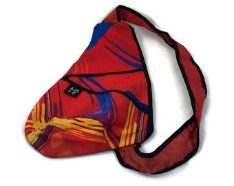 Bag back small red, blue, yellow, white