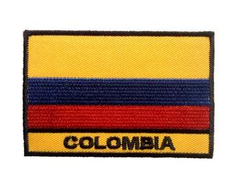 Aufnäher/Bügelbild-Kolumbien Flagge Fahne-Gelb-5.6 x 8.3 cm-by catch-the-Patch ® patch Aufbügler Applikationen zum Aufbügeln Applikation Patches Flicken
