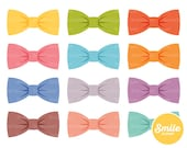 Plain Bow Tie Clipart Illustration for Commercial Use | 0093