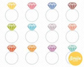 Diamond Ring Clipart Illustration for Commercial Use | 0156
