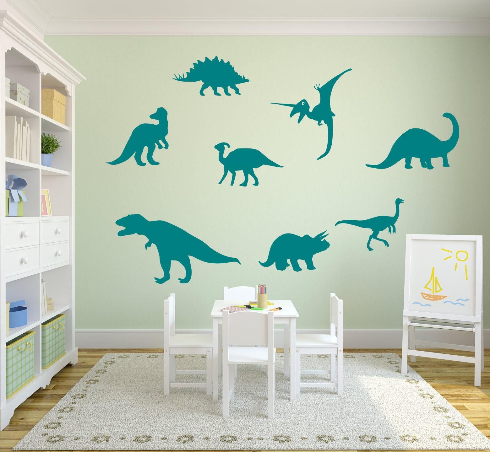 Dinosaur Wall Decals, Dinosaur Wall Art, Dinosaur Decals, Dinosaur Wall  Decor, Dino Decals, Prehistoric Decor, Kids Dinosaur Art