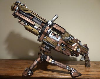Steampunk Nerf Gun Aether Turret Modified Maverick Rev Vulcan Working Toy Dart Gun Prop Costume Accessory Ray Gun Laser Blaster LARP Cosplay