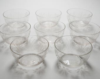 Set of 8 Edwardian Finger Bowls, Circa 1905