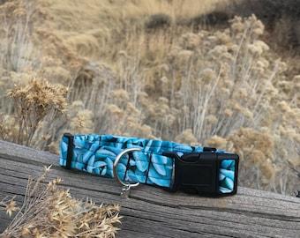 Succulent Blue supernova Adjustable Dog Collar