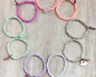 Toddler Stretch Bracelets- stretch bracelet set, toddler bracelet, kids bracelet, seed bead bracelet, beaded bracelet, stack bracelet