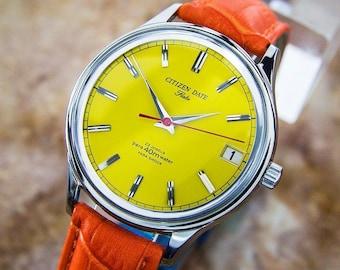 Vintage Citizen Date Flake Manual Mens Dress Watch Made in Japan 1960 Watch PB23
