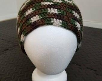 Unisex Crochet camouflage pattern beanie