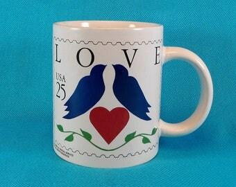 Love Stamp Mug US Postal Stamp Collectables Coffee Mug