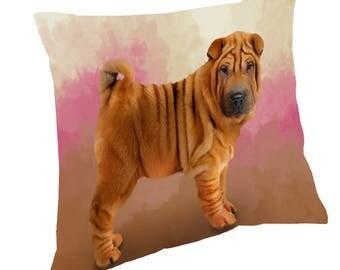 Shar Pei Dog Throw Pillow