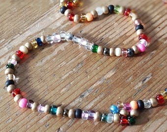 Chain of Czech glass beads