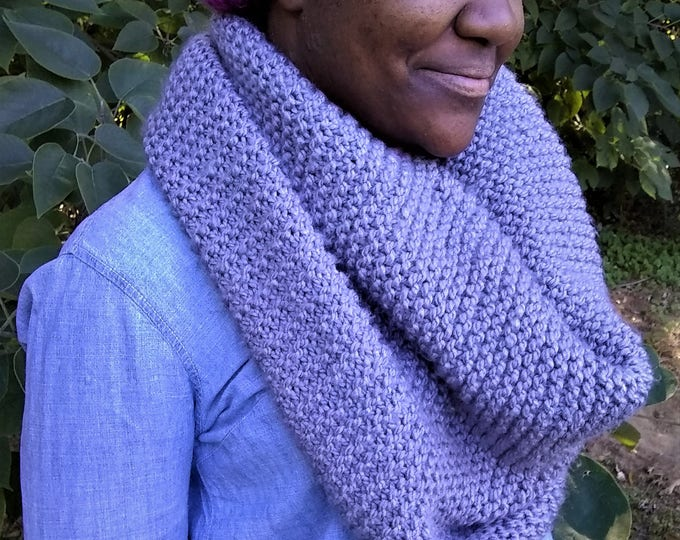 Gray Oversized Knit Infinity Scarf (CHOOSE YOUR COLORS)