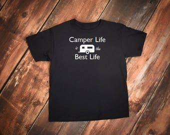 Camping tshirt, Camper tshirt, RV shirt, Camping shirt, I Love Camping shirt, Happy Camper shirt, airstream shirt, Airstream camper shirt