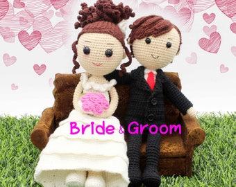 Crochet pattern of Bride & Groom