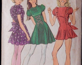 Vintage Dress And Bloomers Pattern Simplicity 9726-Jr/Teen Size 9/10