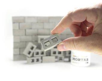 1:12 Mini Cinder Block Build Kit