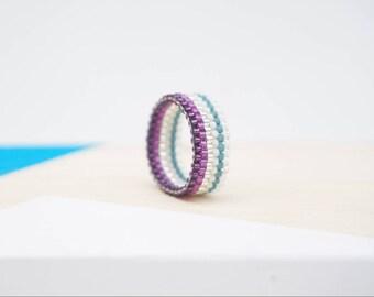 Purple stripy   Ring narrow