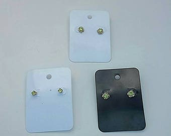 4mm Peridot round facets in sterling silver earrings, 2 style options