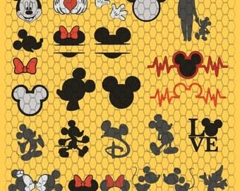 Minnie Mickey Mouse SVG File, Minnie Svg,Cutting File, Mickey Silhouette,  SVG, Digital File, Cricut, (2)